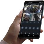 camerabeelden op smartpfone